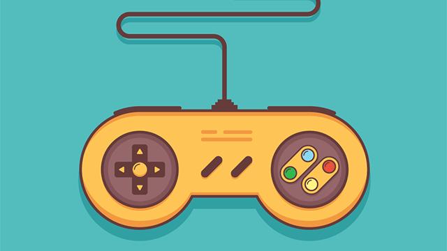 ゲームコントローラーのイラスト