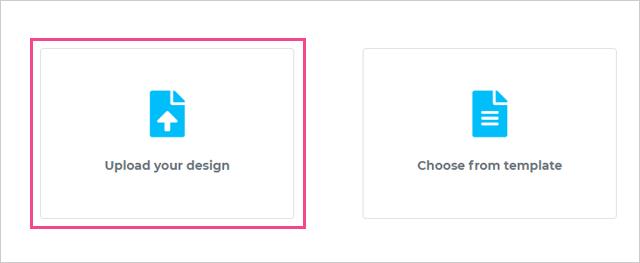 FrontyのUpload your designを選択