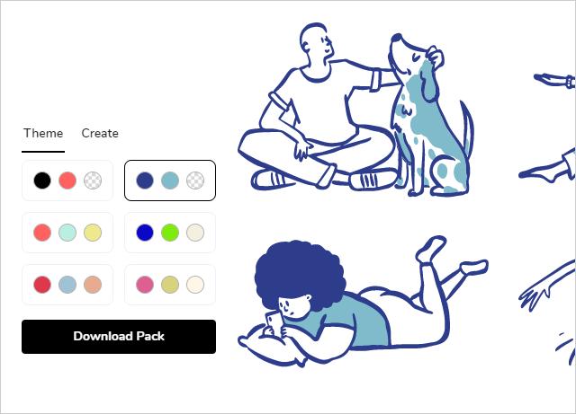 Open Doodlesのカラーテーマ