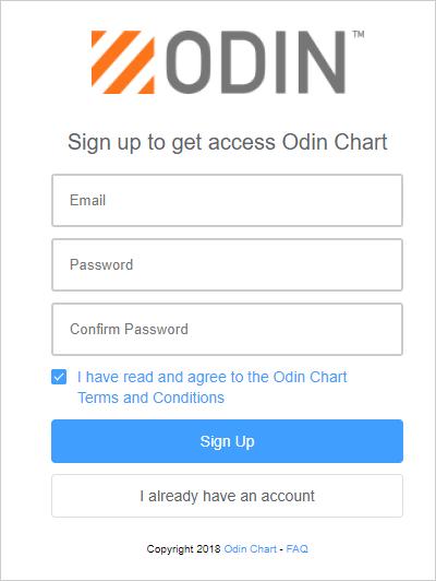 ODIN Chartにユーザー登録