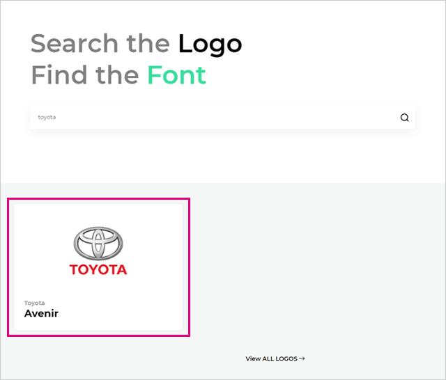 ブランドロゴのフォント検索結果