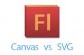 スマートフォンFlashの代替はどっち? Canvas vs SVG